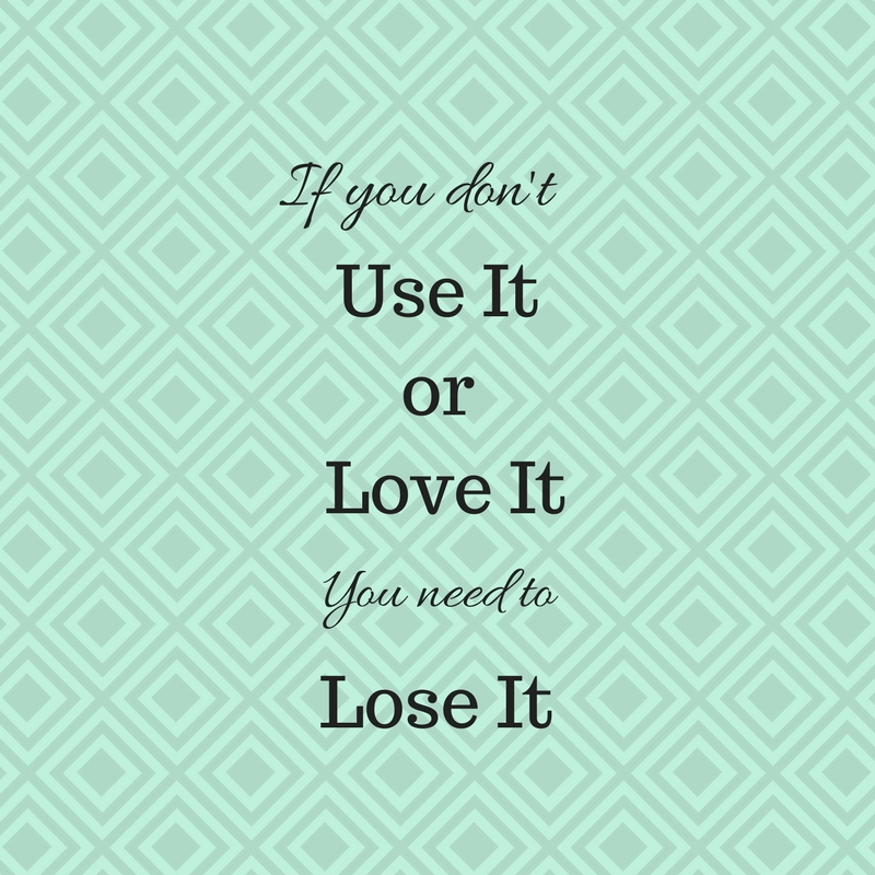 use it or lose it graphic