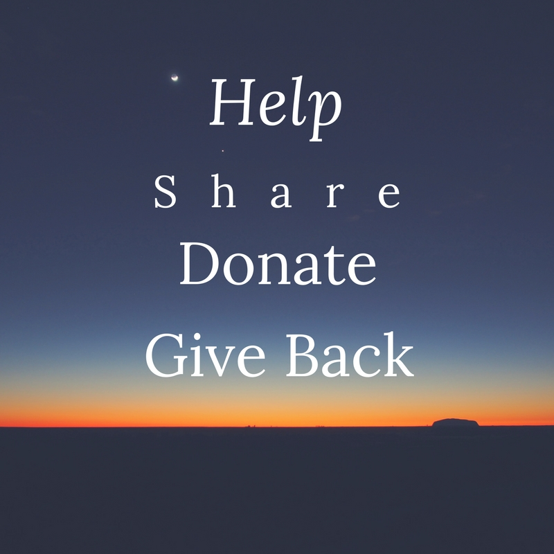 help share donate give back graphic