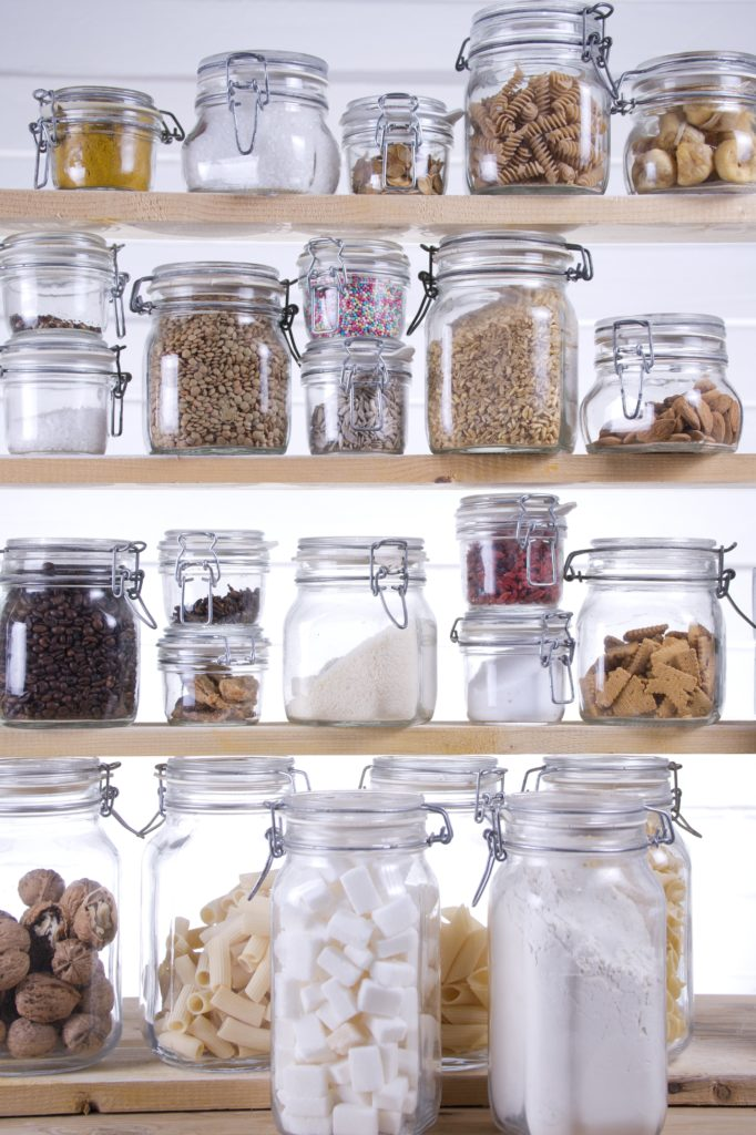 glass jar pantry organization
