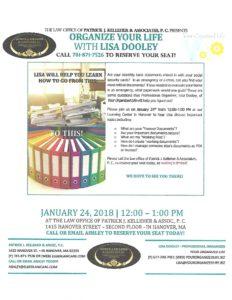 Organize Your Life with Lisa Dooley @ Patrick Kelleher & Associates