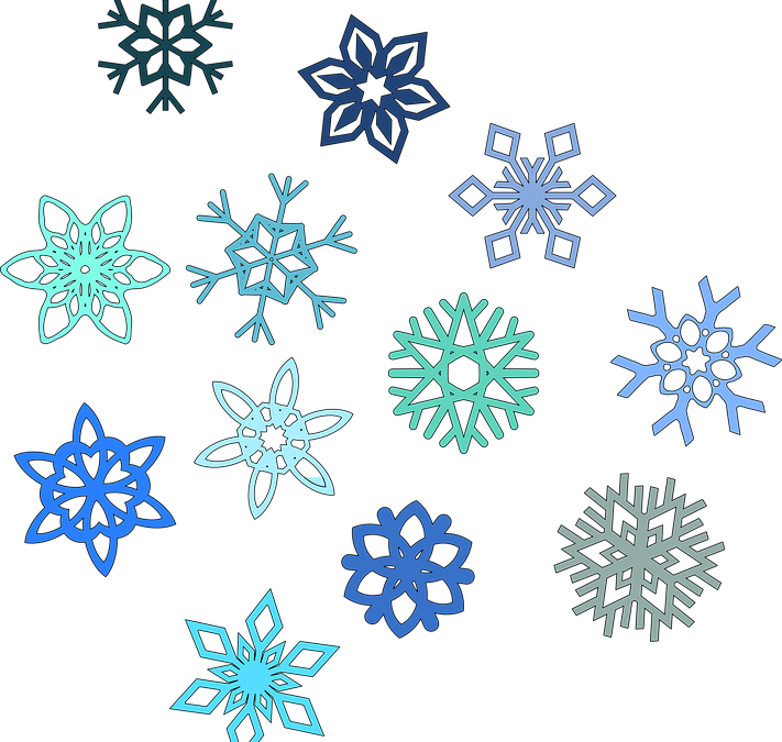 No two snowflakes are alike….
