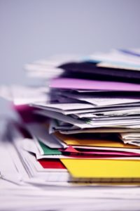 colorful pile of files