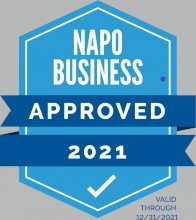 NAPO business approved badge