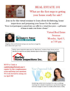 Real Estate 101 - What are the first steps to geting your house on the market? @ Virtual Event
